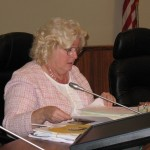 County Councilwoman Brenda Ford discusses the acquisition of Banyan's Beach during today's meeting. Photo by Dave Smith.