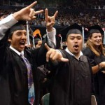 Students celebrate at graduation. Image courtesy of University of Hawaii.