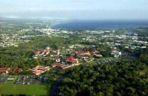 An aerial view of the University of Hawaii at Hilo. Courtesy photo.