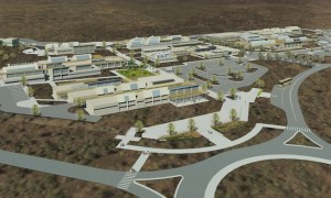 An artist rendering of West Hawai`i Community College at Palamanui, which received additional funding this year. Image courtesy of Palamanui LLC.