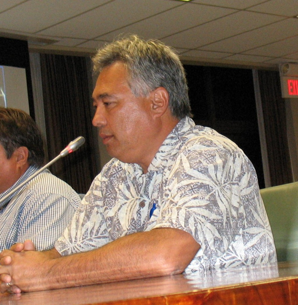 HELCO President Jay Ignacio responds to questions about the utility's electrical rates. Photo by Dave Smith.