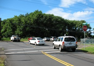 The current view from the end of Kapiolani Street near the University of Hawaii at Hilo. File photo,