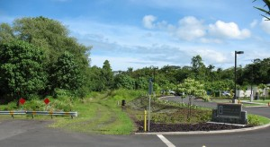 The project will extend Kapiolani toward the university from the Hospice of Hilo facility off Mohouli Street. Photo by Dave Smith.