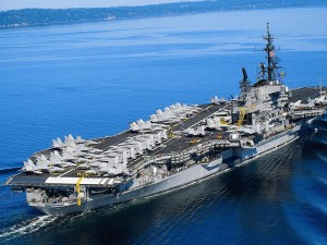Due to impending budget cuts, the US Navy has already cut the number of aircraft carriers on far-away deployments.