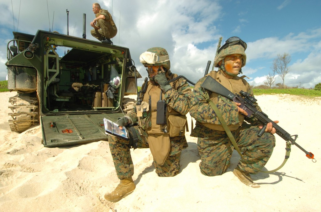 Kaneohe-based Marines will be among the active military members not facing paycuts. Image courtesy US Defense Department.