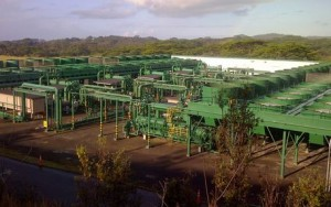 The Puna Geothermal Venture plant in Pohoiki in lower Puna. Photo courtesy of PGV.