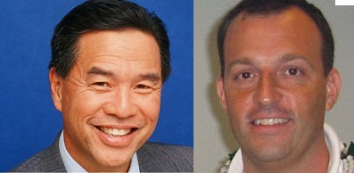 Senators Clayton Hee (left) and Josh Green.