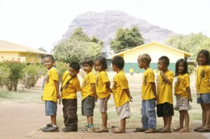 Early childhood education is Gov. Abercrombie's top priority this year. Image courtesy Kamehameha Schools.
