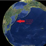 The epicenter was located in a seismically active volcanic archipelago located between Japan and Russia as shown in this modified Google Earth image. Big Island Now graphic.