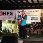 Multiple Na Hoku-award winner Kuana Torres Kahele performs at the Support the Keiki Concert and donates $1,000 to the cause. Photo courtesy of Valerie Newhouse.