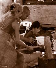 Akiko's Mochi Pounding, courtesy image from Akiko's B & B.