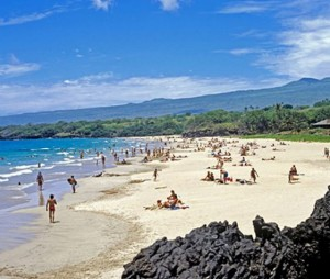 Hapuna Beach will be one of two West Hawaii state parks closing early on Thursday. File photo.