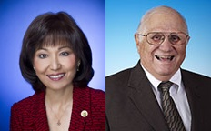 Sen. Donna Mercado Kim, left, and Rep. Joe Souki. Courtesy photos.