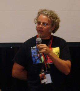 G.B. Hajim speaking at the DragonCon in Atlanta. Photo is courtesy of Hajim.