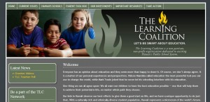 The group repeats the misspelled word on each of its website's pages, as this partial screen grab shows (click to enlarge).