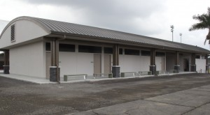 The project included a new building holding dressing rooms and restrooms. Hawaii County photo.