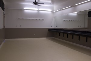 The dressing rooms in the new building offer expanded room and comfort for hula halau and others using the facility. Hawaii County photo.