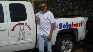 Mel Gear recently joined the Hawaiian Solar team. He relocated to Hawaii after spending 13 years in Australia overseeing commercial solar water heating projects. Photo courtesy of Hawaiian Solar.