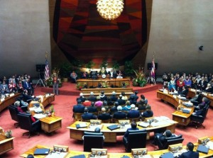 The Hawaii Legislature passed on debating the same-sex marriage issue in their most recent session.