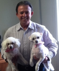 Charlie Rapoza, owner of Happy Tails To You, a pet grooming salon in Waimea. Photo credit Charlie Rapoza.