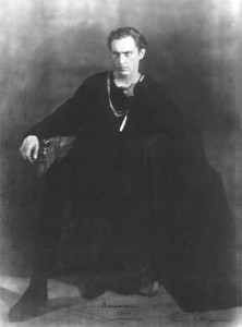 """Actor John Barrymore in the definitive portrayal of """"Hamlet"""" in 1922."""