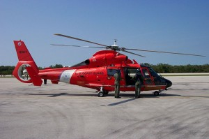 A Coast Guard MH-65 Dolphin helicopter similar to the one pictured is being used in the search. Coast Guard file photo.