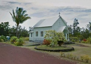 The relocated Kalapana Painted Church.