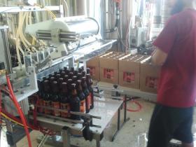 Big Island Brewhaus bottling line. Photo credit Big Island Brewhaus.