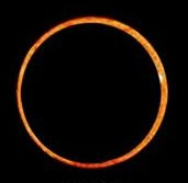 "Viewers near the equator or in the South Pacific will see an annular or ""ring of fire"" solar eclipse. NASA photo."