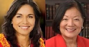 Rep. Tulsi Gabbard, left, and Sen. Mazie Hirono. Courtesy photos.