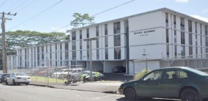 Riverside Apartments, as seen from Ohai Street. Environmental assessment photo.