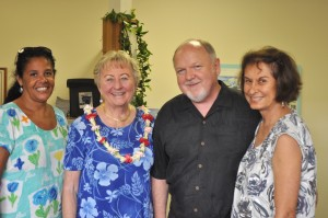 This Week staffers celebrated moving into new offices last week. From left: Lenita Richmond, circulation; Diane Rivas, sales director; Stan Mulkey, publisher/COO and Fern Gavelek, freelancer. Photo credit: This Week Publications.