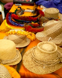 Lauhala hats and lei on display at a previous cultural festival at the park. Courtesy photo.