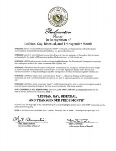 Gov. Abercrombie LGBT Pride Month Proclamation.