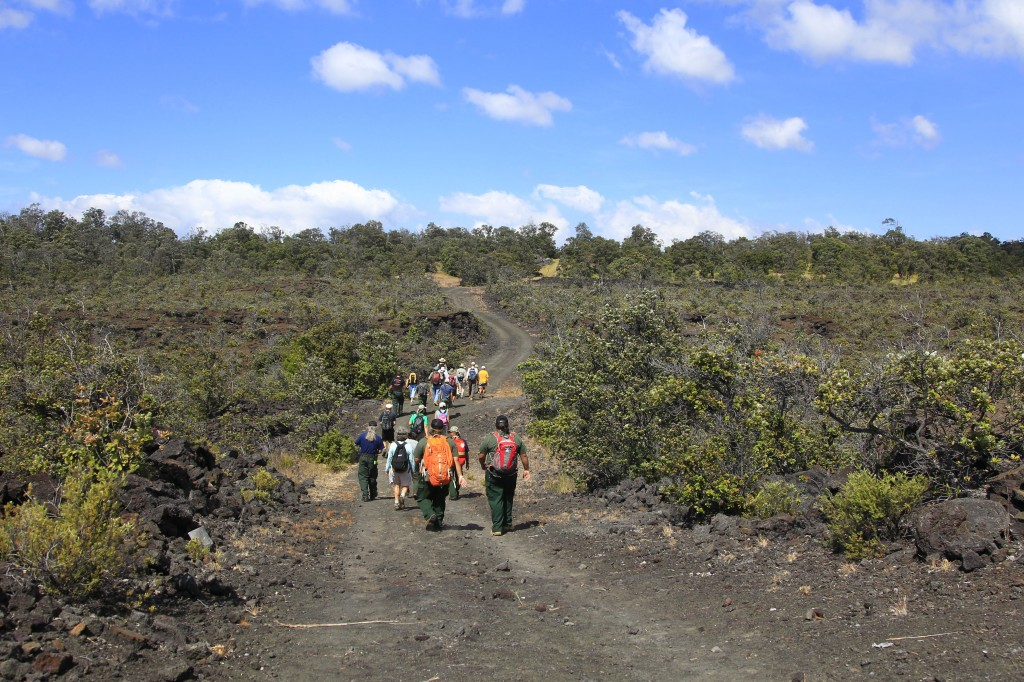 The Palm Trail hike will showcase the 1868 lava flow in the Kahuku Unit of Hawaii Volcanoes National Park. Photo courtesy of NPS.