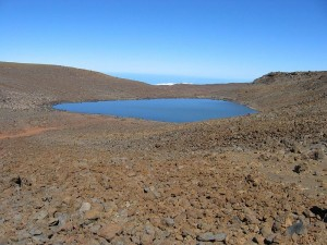 Lake Waiau, at the 13,000 foot elevation of Mauna Kea.