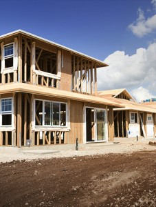 wooden house construction home