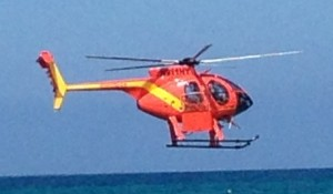 Hawai'i County Fire Department helicpoter. Photo by Nate Gaddis.