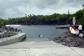 Pohoiki boat ramp.