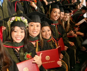 If national-level data are any indication, young women in Hawai`i will soon out-earn their male counterparts. UHH image.