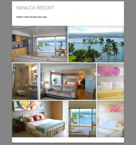 This collage shows some of the interior improvements done on the Naniloa Hotel since 2006. Image courtesy Ken Fujiyama.
