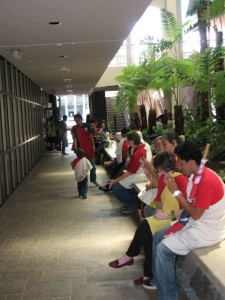 Those testifying during a land board hearing in February overflowed into the county building's hallways. File photo.