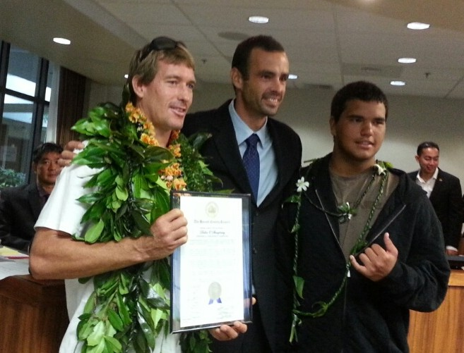 Council Honors Man Who Saved Victim of Shark Attack