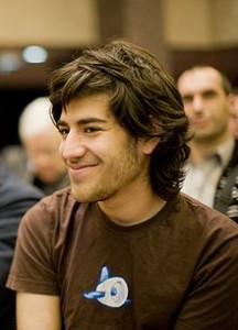 Famed activist and hacker Aaron Swartz. Public domain image.