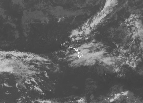 An infrared image of the Central Pacific taken at 4:30 p.m. NOAA image.