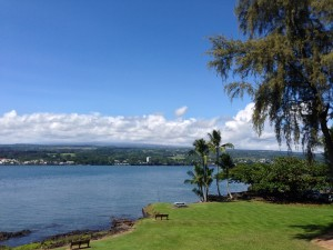 Hilo Bay Café boasts sweeping ocean views at its new location. Image courtesy M's photography.