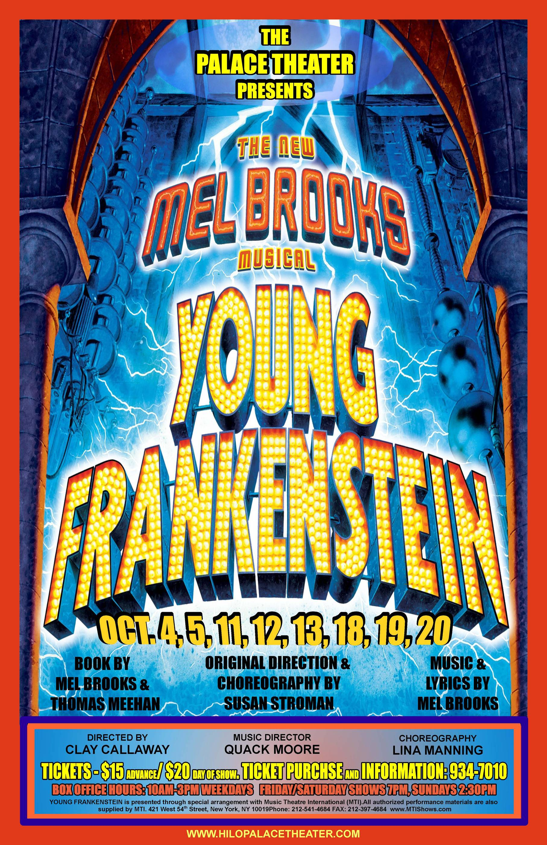 Young Frankenstein Opens At Palace | Big Island Now