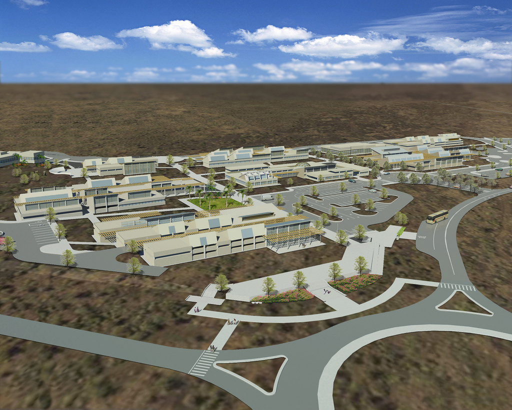 A rendering of Hawai'i Community College's Palamanui Campus. File image courtesy of UH.
