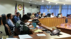Hawai`i County Council members listened to countless hours of testimony on the subject of GMOs over a period of seven months. File photo.
