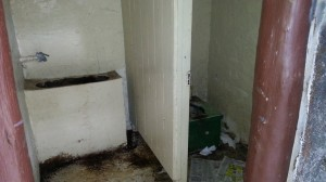 """A pit toilet at the park which has been deemed """"in dire need of replacement."""""""